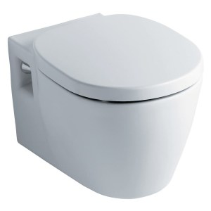 Ideal Standard Concept Wall Mounted Toilet with Slow Close Seat