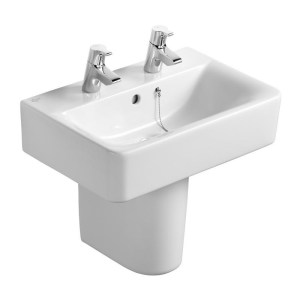 Ideal Standard Concept Cube 55cm Short Projection Washbasin 2TH