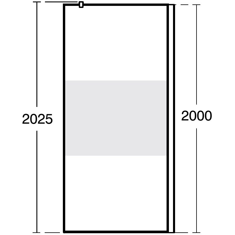 Ideal Standard Synergy Freedom Wetroom Panel 1000mm L6181