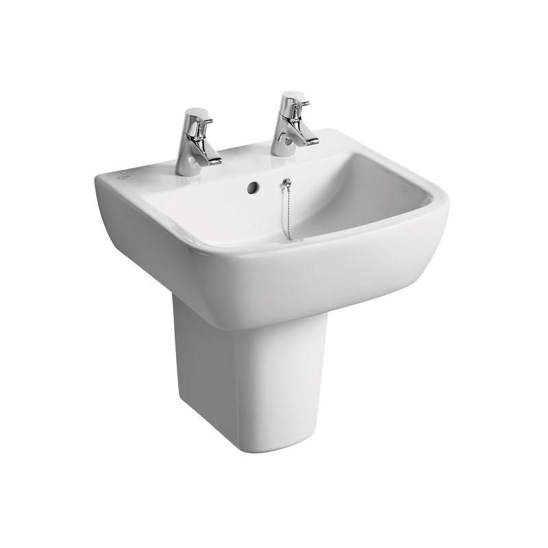 Ideal Standard Tempo 50cm Washbasin 2 Tapholes T0589