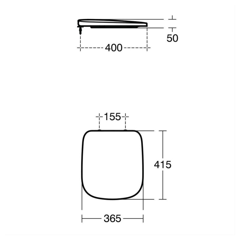 Ideal Standard Studio Echo Short Projection Seat Normal Close T3186