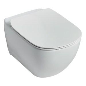 Ideal Standard Tesi Wall Hung WC Bowl & Soft Close Seat Pack
