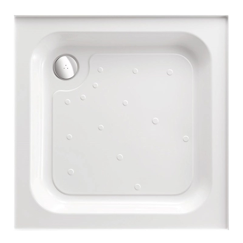 Just Trays Ultracast 1000mm Square Shower Tray 4 Upstands