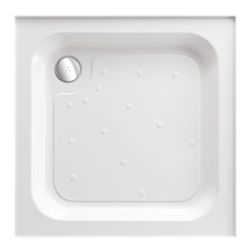 Just Trays Merlin 1000mm Square Shower Tray 4 Upstands