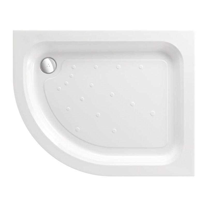 Just Trays Ultracast 1200x900mm LH Offset Quadrant Shower Tray