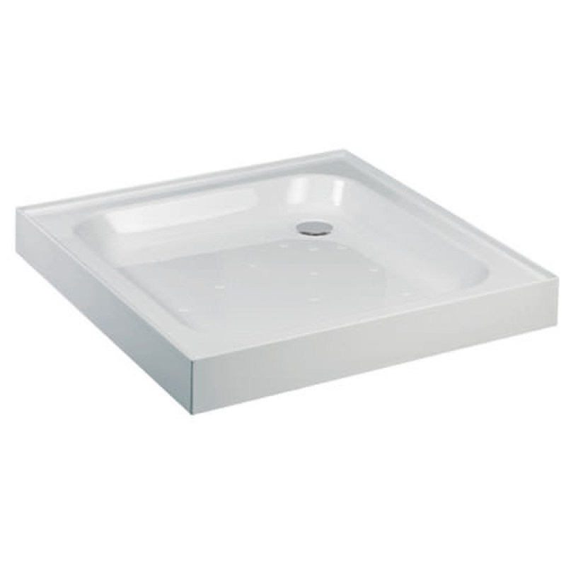 Just Trays Ultracast 700mm Square Shower Tray 4 Upstands