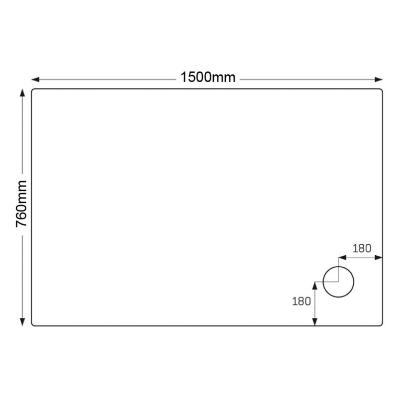 Just Trays Ultracast 1500x760mm Rectangular Tray Anti-Slip