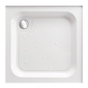 Just Trays Merlin 900mm Square Shower Tray Anti-Slip 4 Upstands