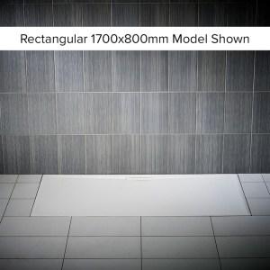 Just Trays Evolved Anti-Slip 1200x760mm Rectangular Shower Tray