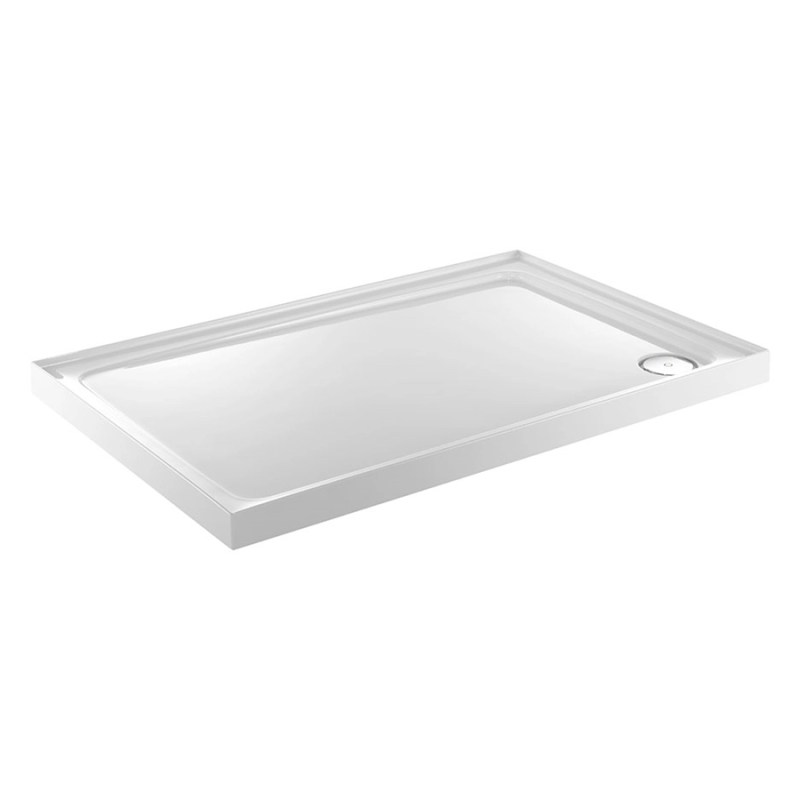 Just Trays Fusion 1200x800mm Shower Tray 3 Upstands LH Anti-Slip