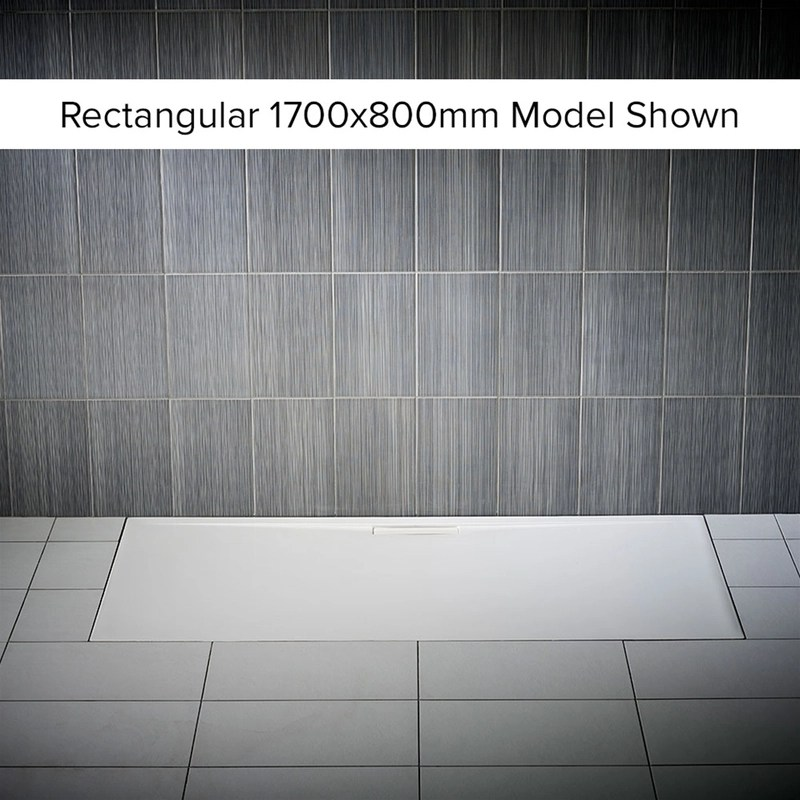 Just Trays Evolved 1700x800mm Rectangular Shower Tray
