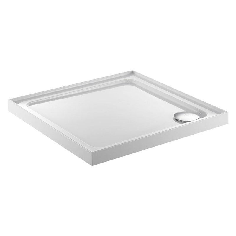 Just Trays Fusion 760mm Square Shower Tray 4 Upstands