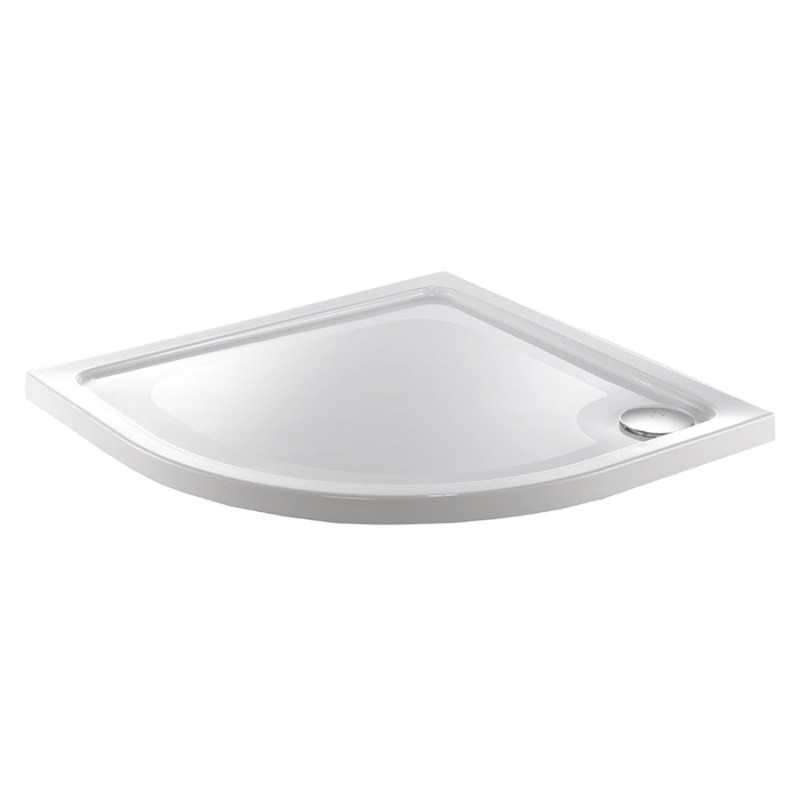 Just Trays Fusion 900mm Quadrant Shower Tray 2 Upstands