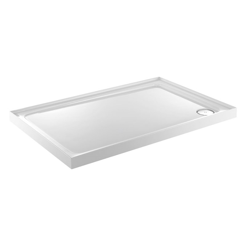 Just Trays Fusion 900x760mm Shower Tray 3 Upstands RH