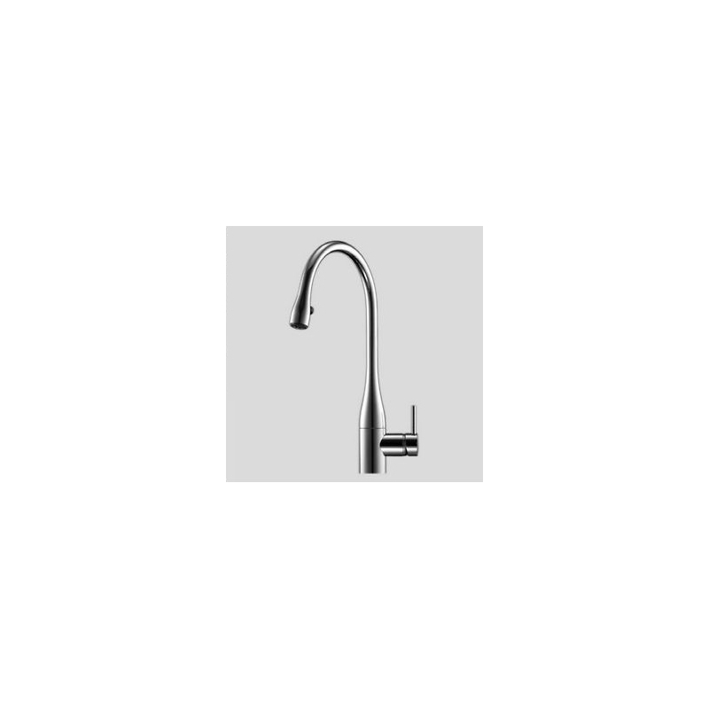KWC Eve Sink Mixer with Pull-Out Aerator & Light Stainless Steel