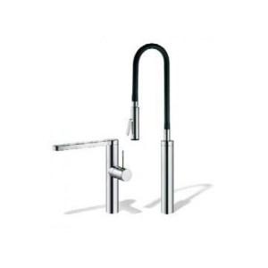 KWC Ono Highflex 2 Hole Sink Mixer with Flexible Spray Chrome