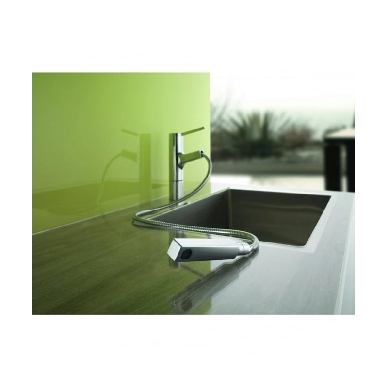 KWC Ava Mono Sink Mixer with Pull-Out Spout Chrome