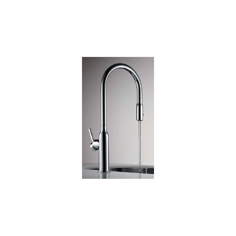 KWC Sin Mono Sink Mixer with Swivel/Pull-Out Spout Chrome