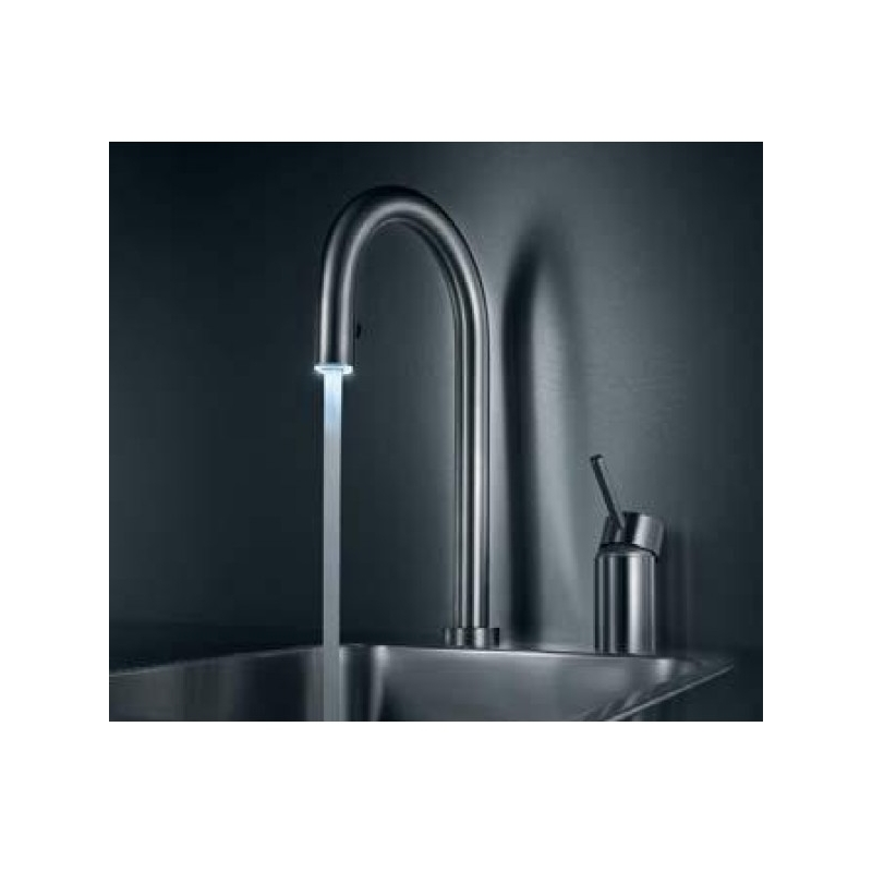 KWC Inox Light 2 Hole Sink Mixer with Pull-Out Aerator Steel