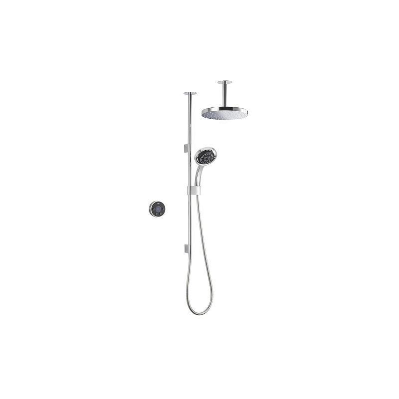 Mira Platinum Dual Ceiling Fed Shower Pumped Black/Chrome
