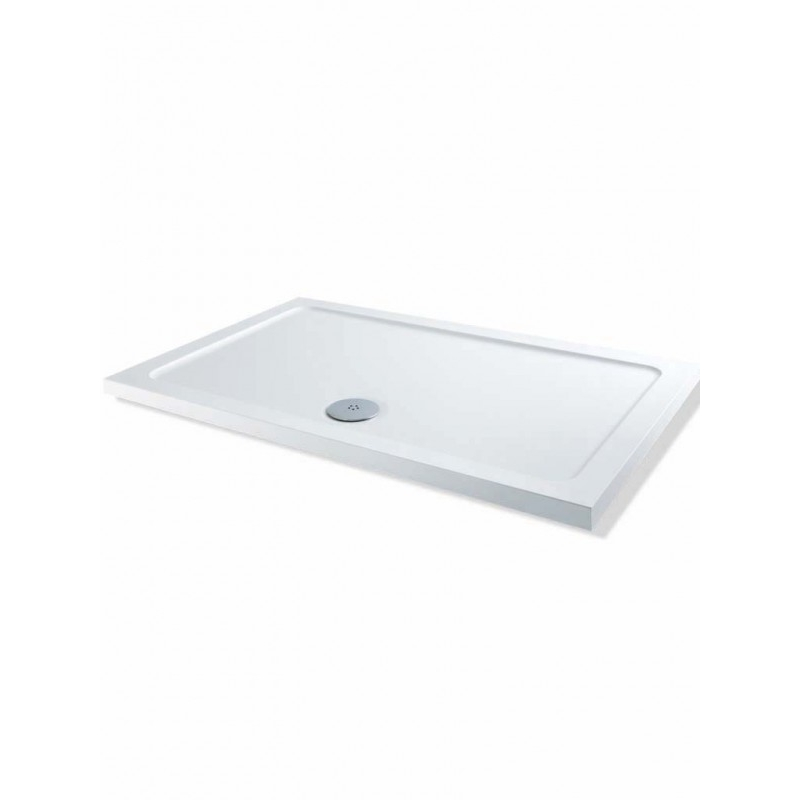 MX Elements Low Profile 1300 x 800mm Shower Tray & 90mm Waste