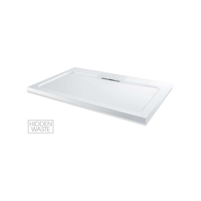 MX Expressions 1200 x 800mm ABS Stone Shower Tray & Waste