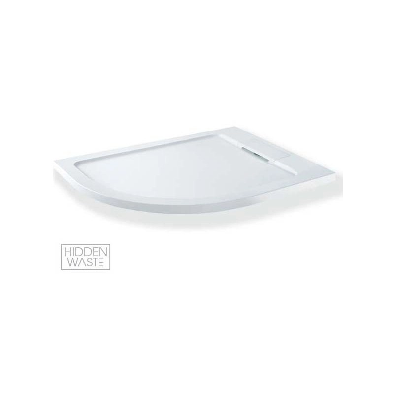 MX Expressions 1200 x 900mm Offset Quadrant Left Tray & Waste