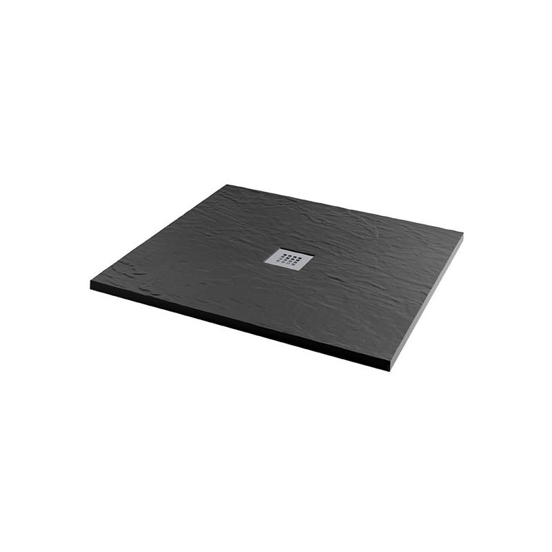 MX Minerals 900 x 900mm Square Shower Tray Jet Black