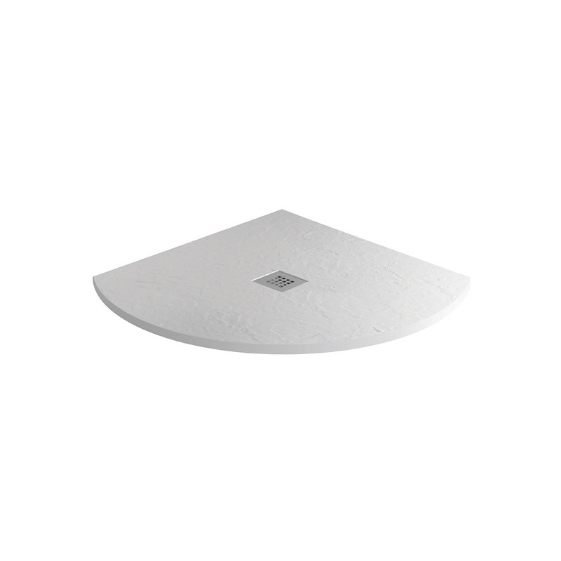 MX Minerals 1000mm Quadrant Shower Tray Ice White