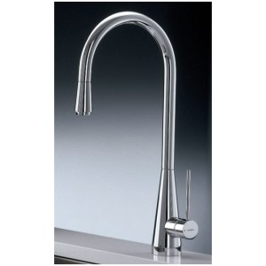 Newform Ycon Mono Sink Mixer with Swivel Spout Brushed Steel