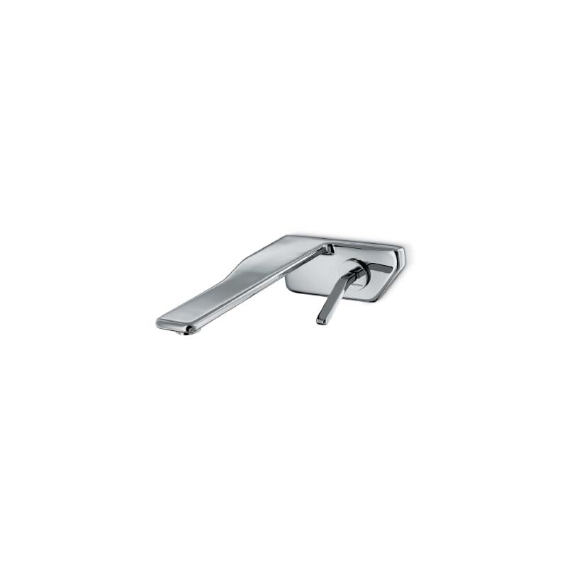 Newform Flux Wall Basin Mixer without Waste Chrome