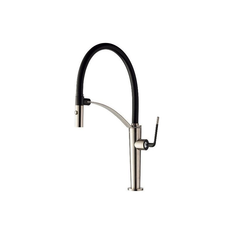 Newform O'Rama Mono Sink Mixer with Adjustable Spout Brushed