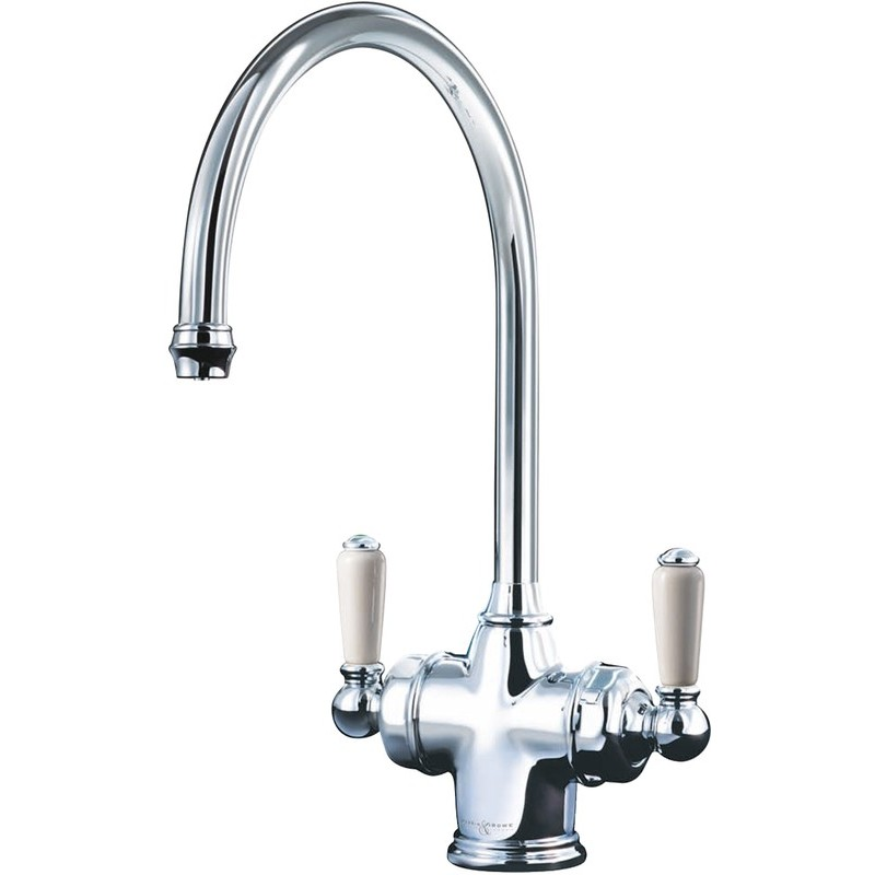 Perrin & Rowe Parthian Dual Sink Mixer with Filtration Nickel