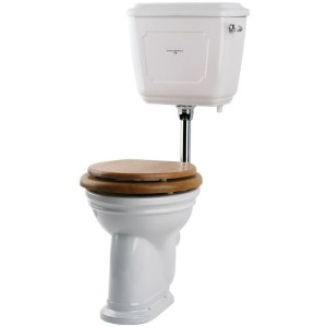 Perrin & Rowe Victorian Low Level WC Cistern, White