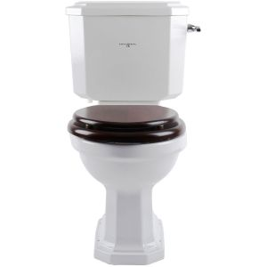 Perrin & Rowe Deco Close Coupled WC Cistern, White