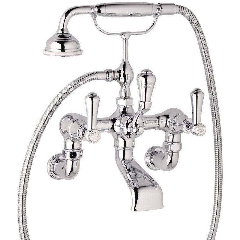 Perrin & Rowe Georgian Wall Bath Shower Mixer, Lever