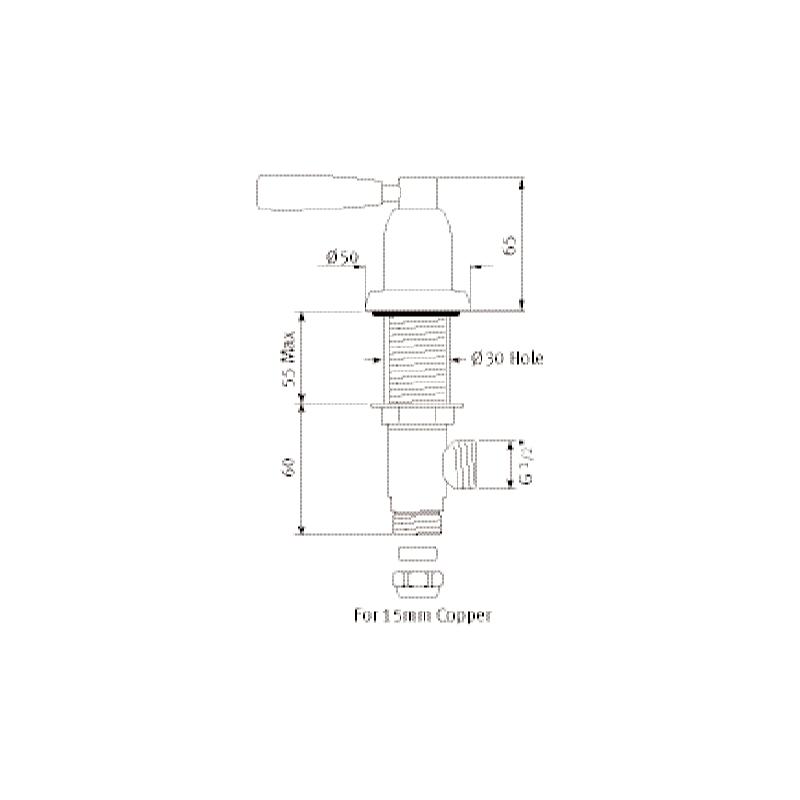 "Perrin & Rowe Contemporary Lever 1/2"" Deck Valves Pair"