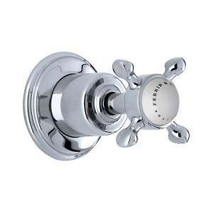"""Perrin & Rowe Traditional Single 3/4"""" Wall Valve with Cross Handle"""