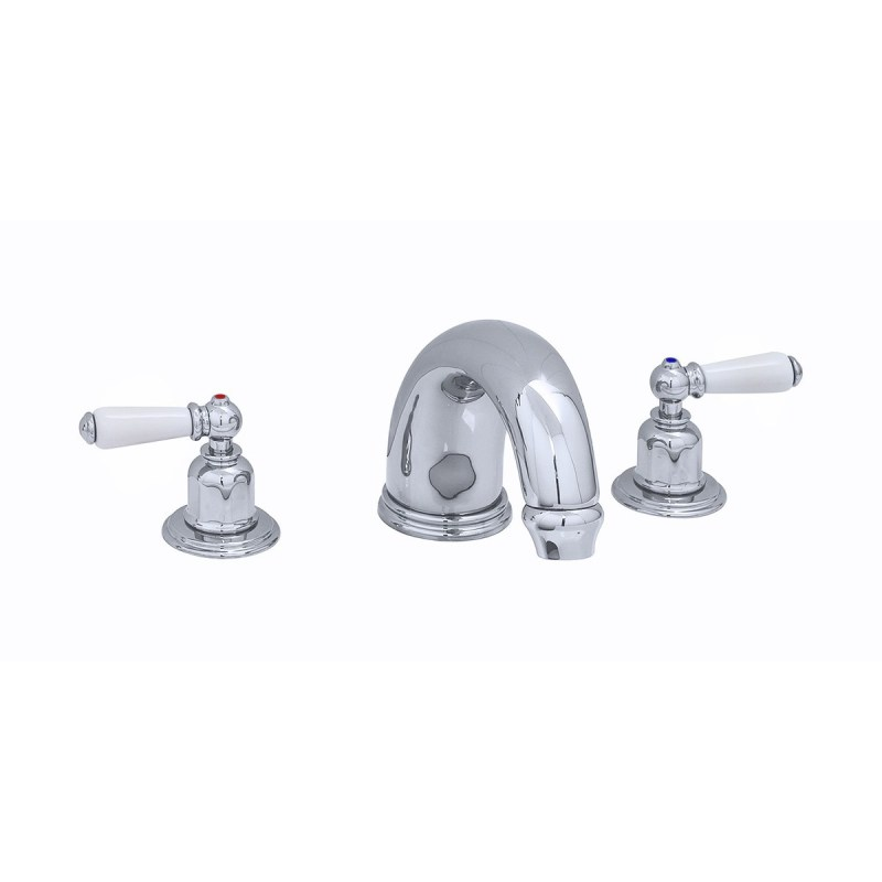 """Perrin & Rowe 10"""" 3 Hole Bath Set with Lever Handles Gold"""
