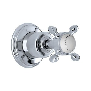 """Perrin & Rowe Traditional Single 1/2"""" Wall Valve with Cross Handle"""