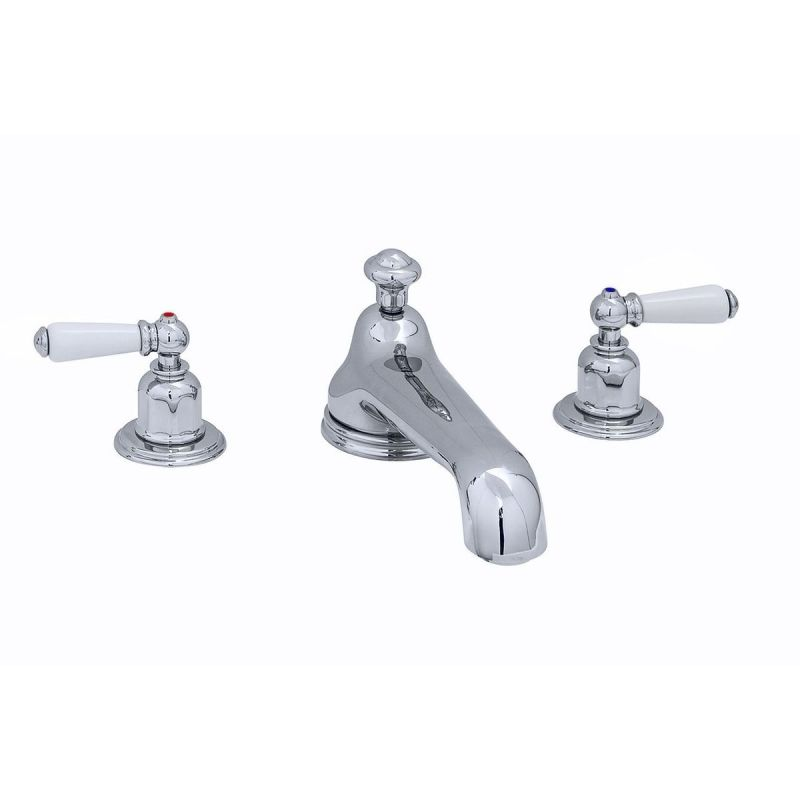 Perrin & Rowe 3 Hole Bath Set Low Spout Lever Handles Chrome