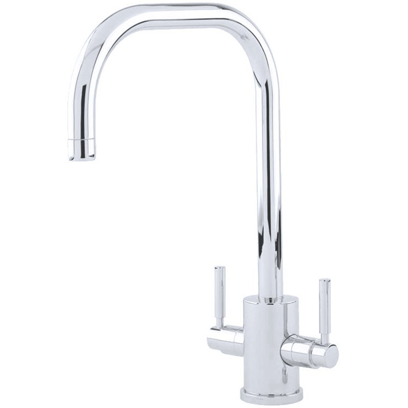 Perrin & Rowe Orbiq Sink Mixer with U Spout Nickel