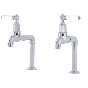 Perrin & Rowe Mayan Deck Mounted Taps with Lever Handles Pewter