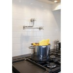 Perrin & Rowe Pot Filler with Crosshead Handles Chrome