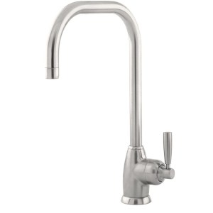 Perrin & Rowe Mimas Single Lever Sink Mixer with U Spout Pewter