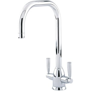 Perrin & Rowe Oberon Sink Mixer with U Spout Pewter