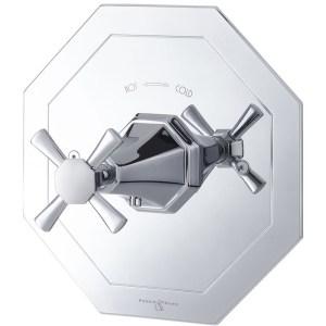Perrin & Rowe Deco Crosstop Concealed Mixer without Flow Control Nickel