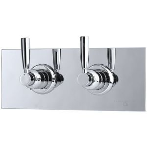 Perrin & Rowe Contemporary Lever Concealed Mixer & Shut-Off Pewter