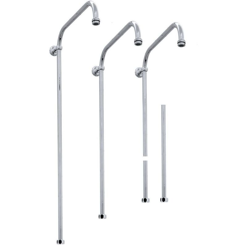 Perrin & Rowe Fixed Riser 800 x 400mm Pewter