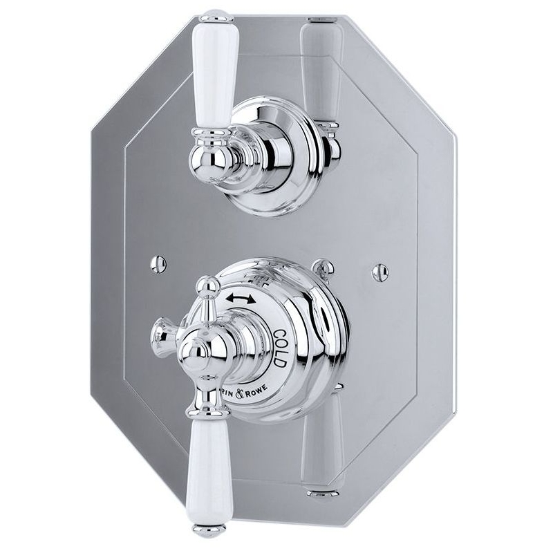 Perrin & Rowe Concealed Thermostatic Shower Mixer Chrome